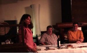 Annamaria Lorefice alla conferenza stampa presenta gli scopi di YES VEG e del CLUB TICINO VEGANO