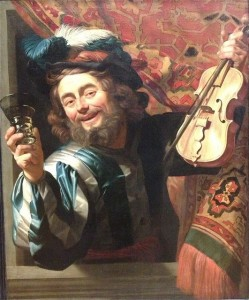 G. van Honthorst, The merry Fiddler